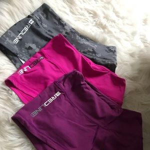 3 Pairs of Redline Gear CrossFit booty shorts